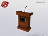 FULL PERM Podium V.02 - Lecture Desk with microphone