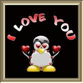 BOITE POOFER I LOVE YOU pingouin (1)