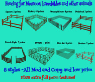 Fencing for Meeroos, breedables and other animals