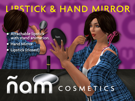 Lipstick and hand mirror ÑAM