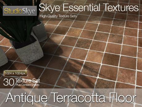 Antique Terracotta Floor - Skye Essential - 30 Full Perms Textures