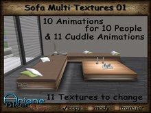 Sofa 01 Multi Texture for Frame, Cushions & Pillows Living Room