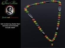 Set Pearl rasta necklace & bracelet by jamman