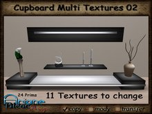 Cabinet Cupboard 02 Multi Texture - Living Room - Dining Room -