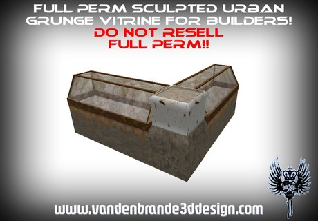 ~Full perm urban grunge store vitrine + Maps! and textures!