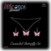 LOJ: Enameled Butterfly Set - Pink