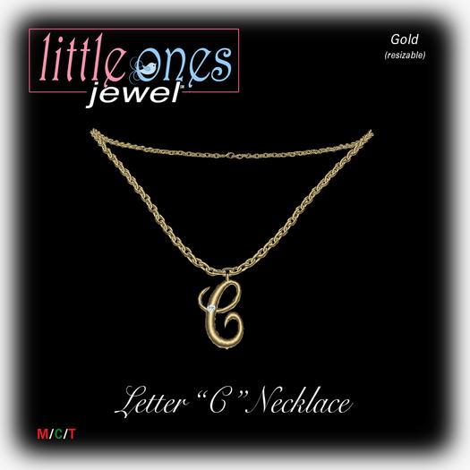 LOJ: Letter C Necklace - Gold