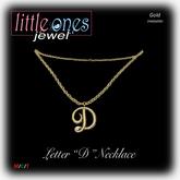 LOJ: Letter D Necklace - Gold