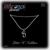 LOJ: Letter G Necklace - Silver