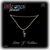 LOJ: Letter J Necklace - Gold