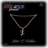 LOJ: Letter L Necklace - Gold