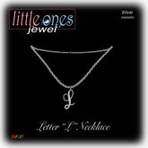 LOJ: Letter L Necklace - Silver