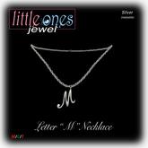 LOJ: Letter M Necklace - Silver
