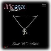LOJ: Letter R Necklace - Silver