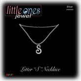 LOJ: Letter S Necklace - Silver