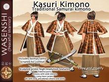 Wasenshi Kasuri Kimono