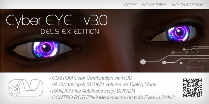 CyberEYE v3.0 DEUS EX Edition + Color Changing HUD
