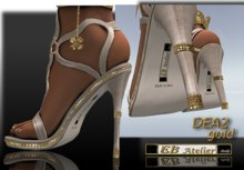EB Atelier Shoes *DEA* Gold 2 -Wear it quickly-  italian designer