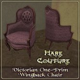 ~ Hare Couture ~ French Wingback 1-prim Chair