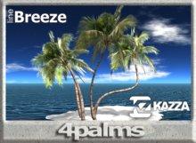 KAZZA - Line Breeze - 4 Palms - 2 prims C Land & Furniture