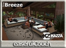 KAZZA - Easeful Couch - 5 prims C furniture