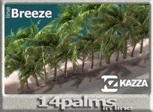 KAZZA - Tropical 14 Palms - 2 prims C - Home Garden & Furniture