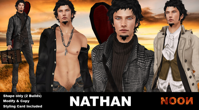 .::NOON::. Nathan Shape - Male shapes line