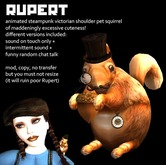 Rupert the victorian steampunk shoulder pet squirrel - BOXED