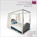 %50WINTERSALE Full Perm Sculpted Canopy Bed  Builder's Kit Set Full Perm