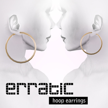 erratic / hoop earrings / gold