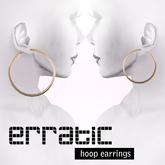 erratic / hoop earrings / gold