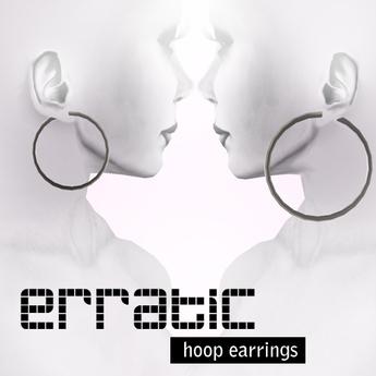 erratic / hoop earrings / silver