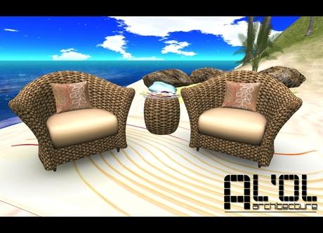 FREE! Al'Ol Woven Chair Set