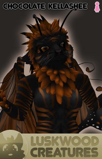 Luskwood Chocolate Kellashee Avatar - Female - Complete Furry Avatar