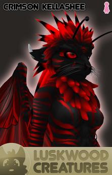 Luskwood Crimson / Red Kellashee Avatar - Female - Complete Furry Avatar