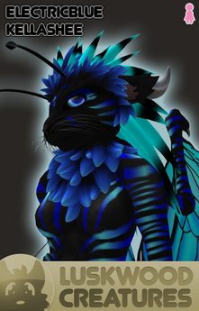 Luskwood Electric Blue Kellashee - Female - Complete Furry Avatar