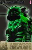 Luskwood Emerald / Green Kellashee Avatar - Female - Complete Furry Avatar