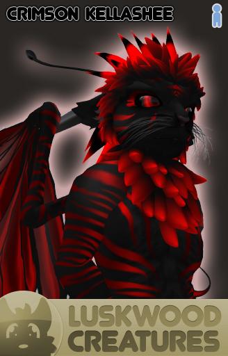 Luskwood Crimson / Red Kellashee Avatar - Male - Complete Furry Avatar