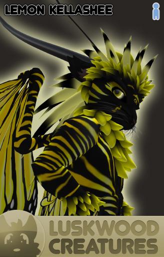 Luskwood Lemon / Yellow Kellashee Avatar - Male - Complete Furry Avatar