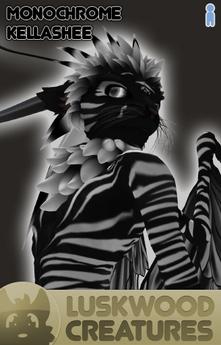 Luskwood Monochrome Kellashee Avatar - Male - Complete Furry Avatar