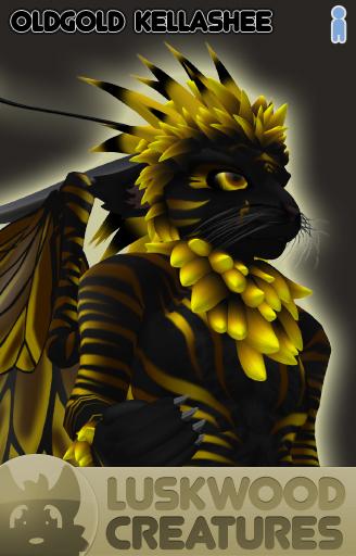 Luskwood Old Gold Kellashee Avatar - Male - Complete Furry Avatar