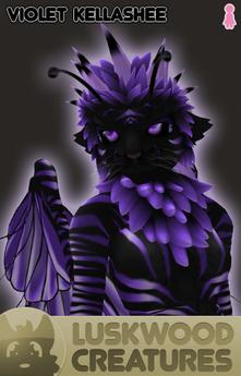 Luskwood Violet / Purple Kellashee Avatar - Female - Complete Furry Avatar