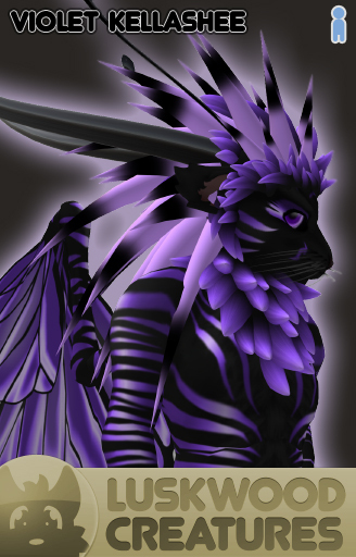 Luskwood Violet / Purple Kellashee Avatar - Male - Complete Furry Avatar