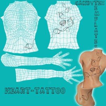 CandyTex Heart-tattoo-template