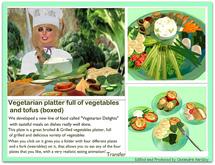 Vegetarian platter full of vegetables and tofus (boxed)