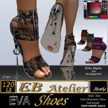 EB Atelier Shoes *EVA* transparent lace-Wear it quickly-  italian designer