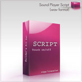 Full Perm Sound Player Script (.wav format) Builder's Kit Set