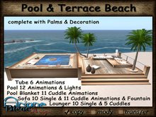 - Special price limited Time - Pool & Terrace with Furniture & Animations Beach light Wood