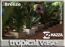 KAZZA - Garden & Furniture - Tropical PLants Vase - C
