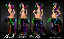 !K&L! Rainbow Nova Kitty Rave Outfit